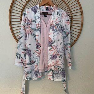 Botanical Kimono Blazer